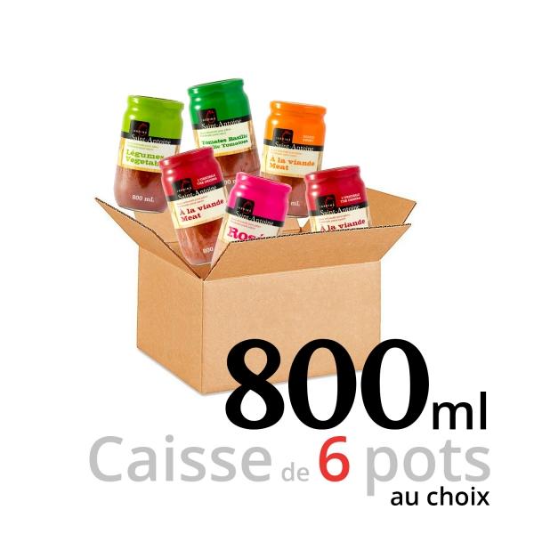 Jardins Saint-Antoine - Caisse de 6 pots - 800 ml