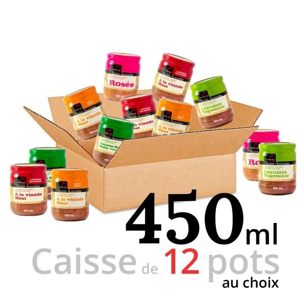 Jardins Saint-Antoine - Caisse de 12 pots - 450 ml